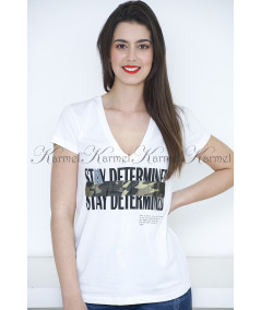 T SHIRT STAY DETERMINED SPELL