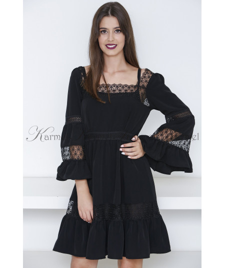 VESTIDO RENDA BORDADO SWALLOW